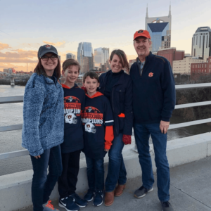 Kirk Walden and Family in Nashville, TN. Music City Bowl