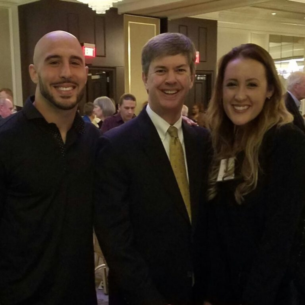 Kirk Walden, Former NFL Player Chris Maragos and Serah Maragos
