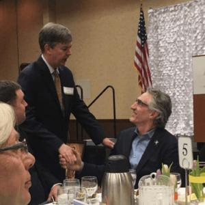 Kirk Walden and Governor Doug Burgum of North Dakota