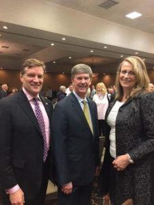 Kirk Walden with State Senator Tom Campbell