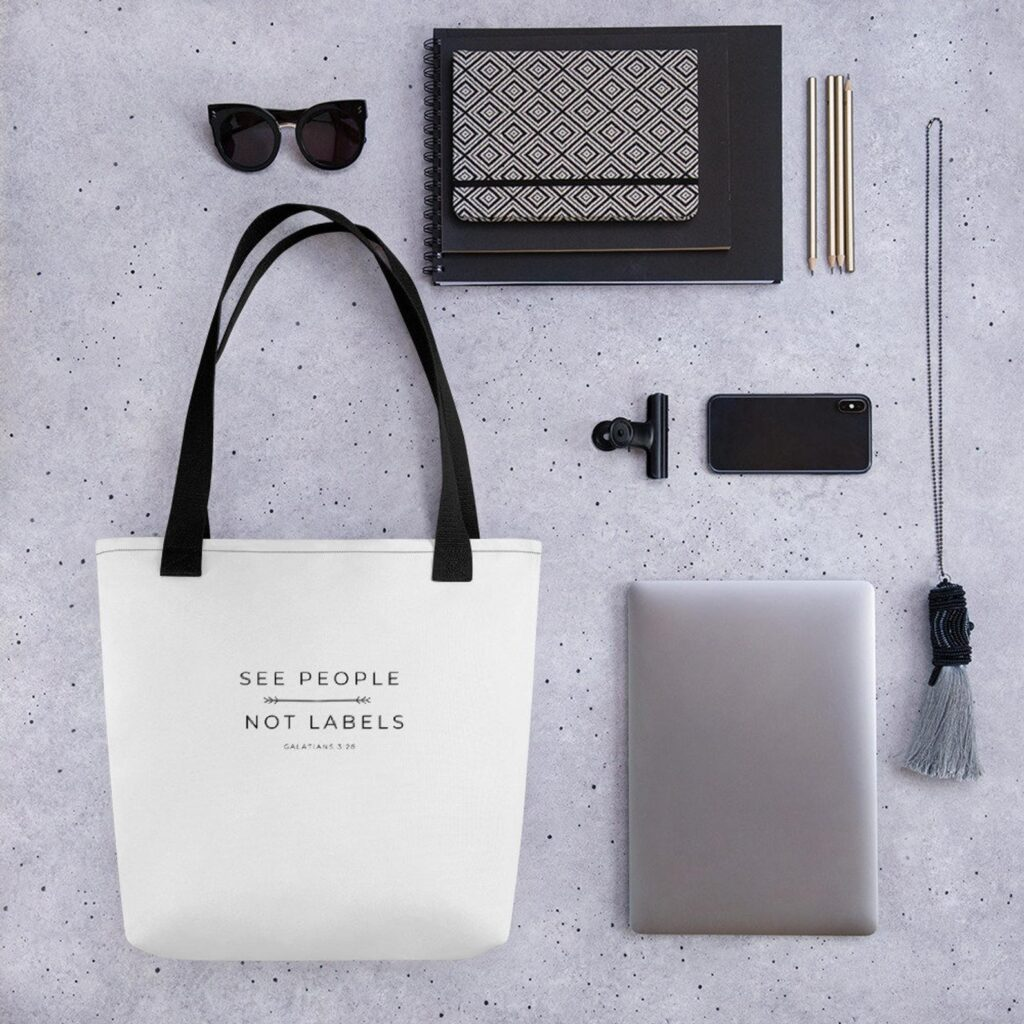 See People - Not Labels Tote Bag